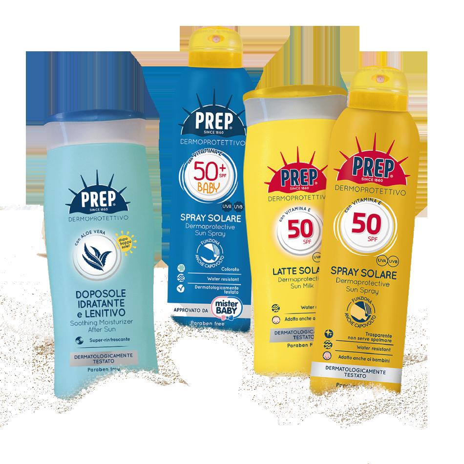 SOLARI PREP - Proteggi la tua pelle con i solari Dermoprotettivi Prep